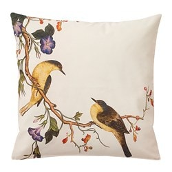 KÅLFLY cushion cover, bird, yellow