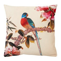 KÅLFLY cushion cover, bird, red