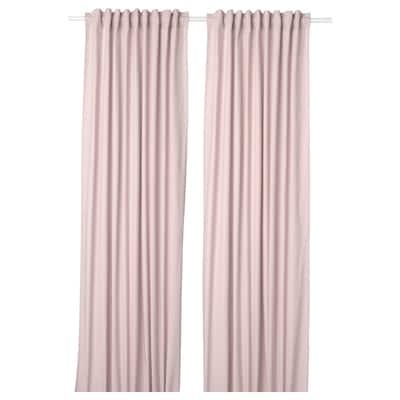KALKFLY Curtains, 1 pair, light pink, 145x250 cm