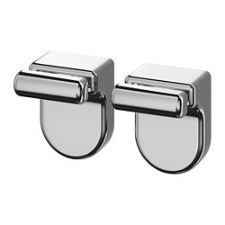KALKGRUND knob hanger, chrome-plated