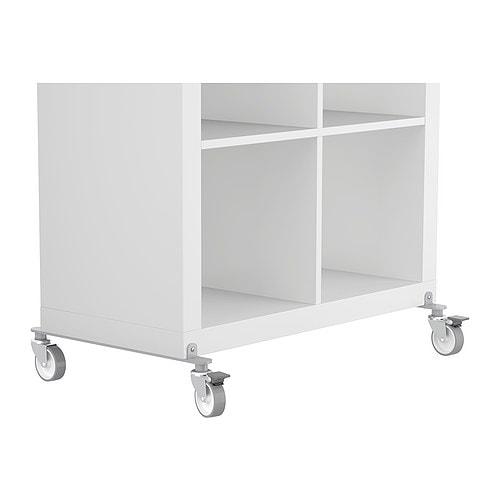Kallax set of castors ikea for Ikea expedit wheels