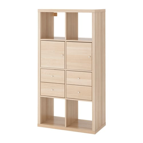 Kallax shelving unit with 4 inserts ikea for Meuble 5 cases ikea