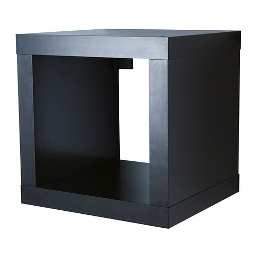 Kallax shelving unit black brown ikea - Etagere cube ikea expedit ...