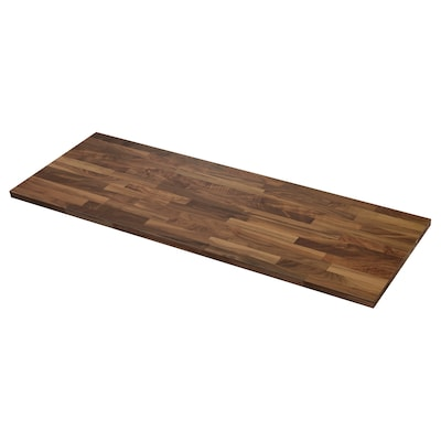 KARLBY Worktop, walnut/veneer, 186x3.8 cm