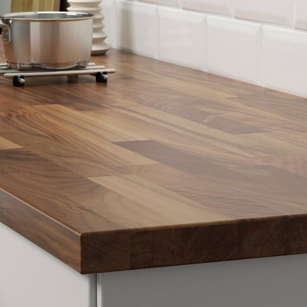 KARLBY Worktop, walnut/veneer, 186x3.8 cm