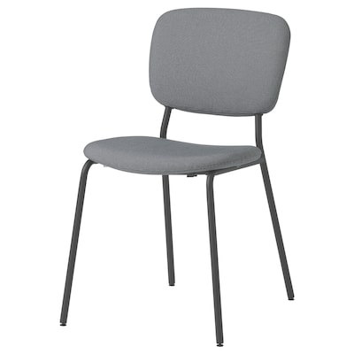 KARLJAN Chair, dark grey/Kabusa dark grey