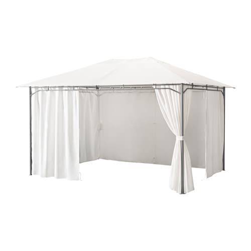 Karls gazebo with curtains 300x400 cm ikea - Ikea pergolas jardin ...