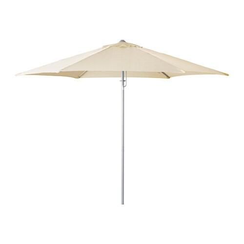 Karls parasol tilting beige ikea - Parasol de balcon ikea ...