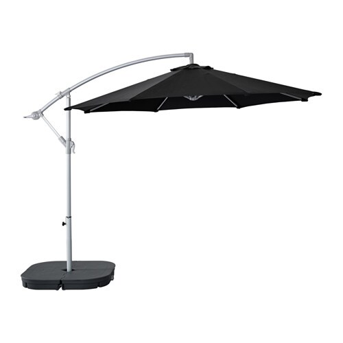 karls svart parasol hanging with base black dark grey ikea. Black Bedroom Furniture Sets. Home Design Ideas