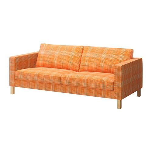 karlstad three seat sofa husie orange ikea. Black Bedroom Furniture Sets. Home Design Ideas