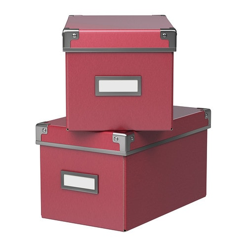 KASSETT Box with lid IKEA This box is perfect for storing your CDs, games, chargers or desk accessories.