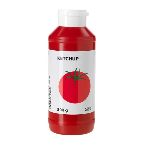 KETCHUP Tomato ketchup IKEA A sweet tomato sauce.   Adds flavour to many dishes both as an ingredient and as a colourful topping.