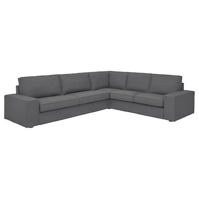 KIVIK corner sofa, 5-seat Skiftebo dark grey 95 cm 83 cm 297 cm 257 cm 60 cm 45 cm 24 cm