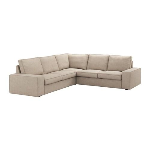 Kivik Corner Sofa 4 Seat Hillared Beige Ikea