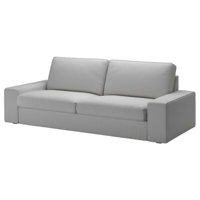 KIVIK Three-seat sofa, Orrsta light grey