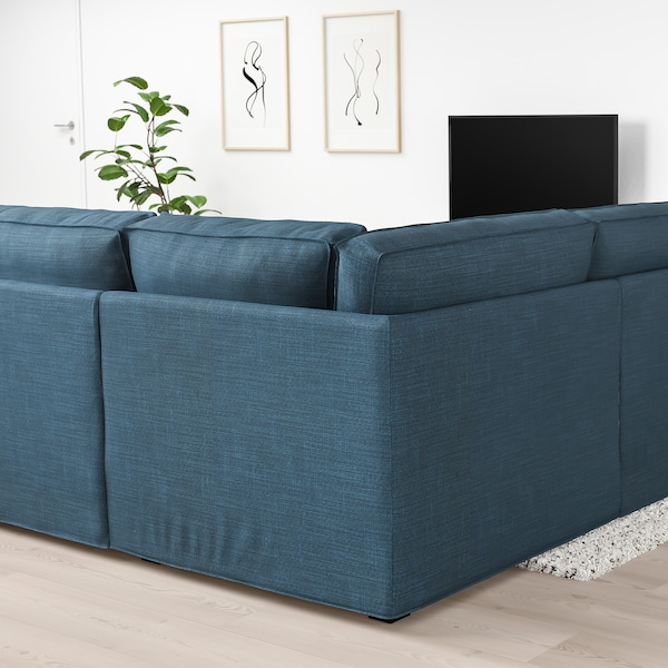 KIVIK U-shaped sofa, 6 seat, Hillared dark blue