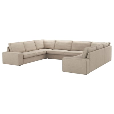 KIVIK U-shaped sofa, 7-seat, Hillared beige