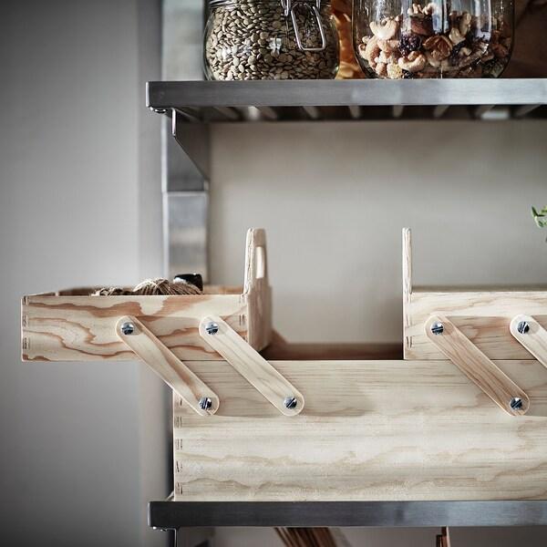 KLÄMMEMACKA desk organiser natural plywood 35 cm 26 cm 22 cm