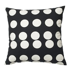 KLARASTINA cushion cover, black, white