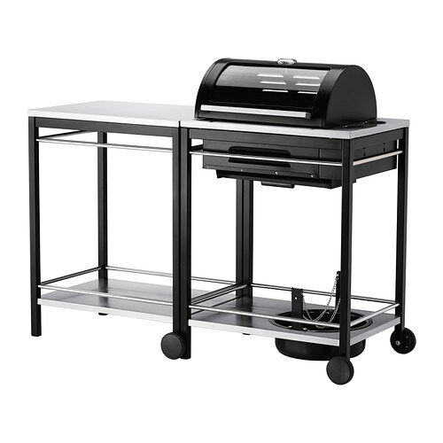 klasen gas barbecue with trolley stainless steel ikea. Black Bedroom Furniture Sets. Home Design Ideas