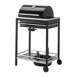 KLASEN gas barbecue, black