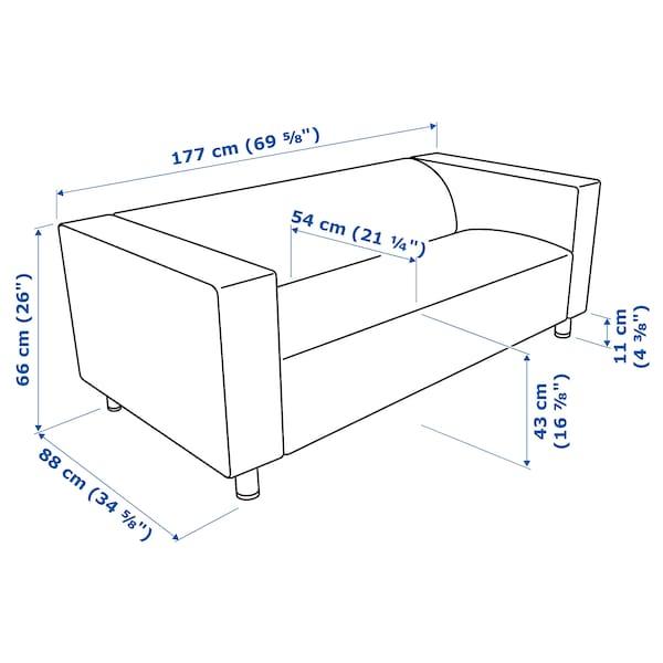 KLIPPAN 2-seat sofa, Bomstad black