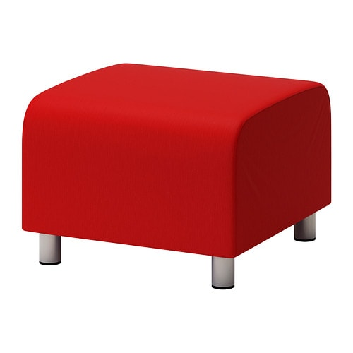 Klippan Pouffe Vissle Red Orange Ikea
