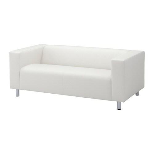 klippan 2 seat sofa bomstad white ikea