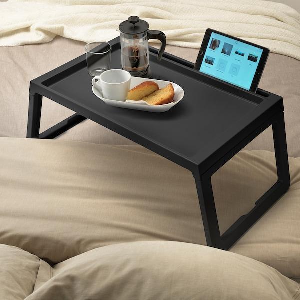 KLIPSK Bed tray, black