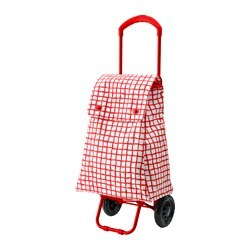 KNALLA shopping bag on wheels