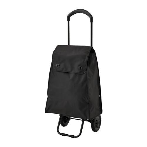 KNALLA - Shopping bag on wheels, black