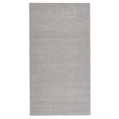KNARDRUP Rug, low pile, light grey, 80x150 cm