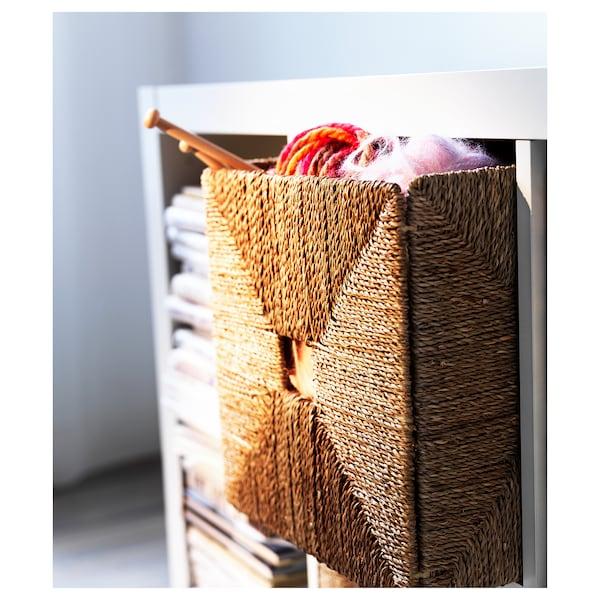 KNIPSA Basket, seagrass, 32x33x32 cm