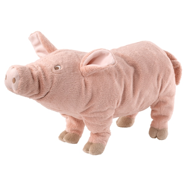 KNORRIG Soft toy, pig/pink