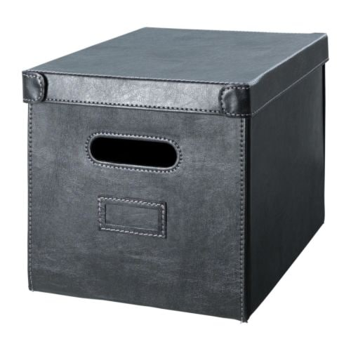 KNÖS Box with lid IKEA This box is suitable for storing your newspapers, magazines, photos or other memorabilia.