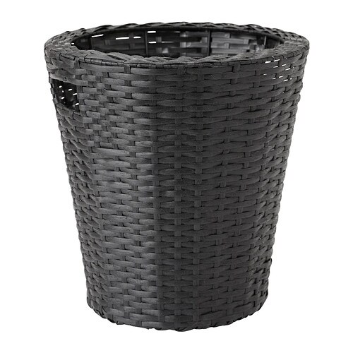 Kokbanan plant pot 24 cm ikea for Black planters ikea
