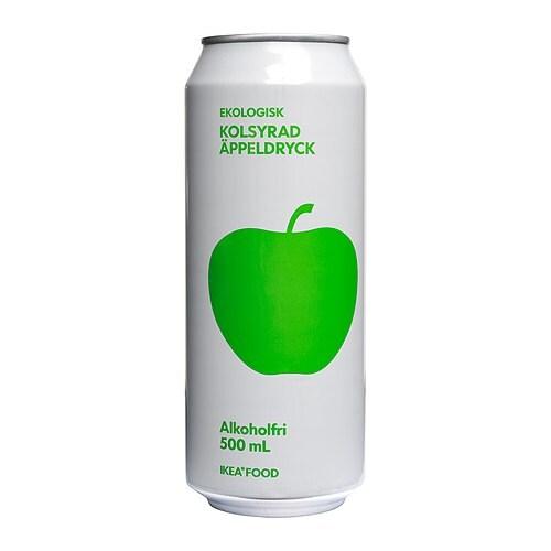 KOLSYRAD ÄPPELDRYCK Sparkling apple drink IKEA A semi-sweet cider ...