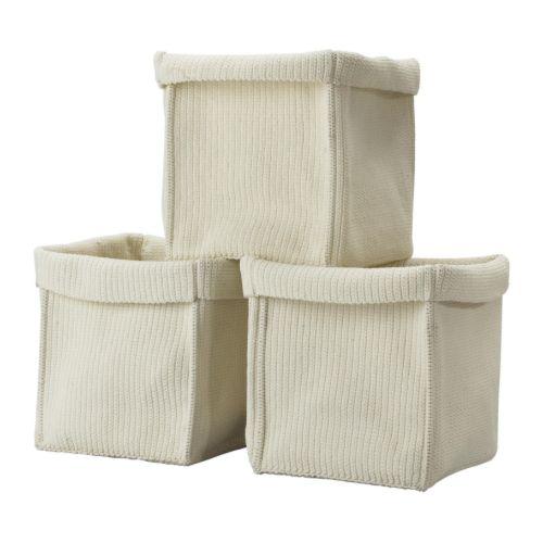 KOMPLEMENT Basket IKEA Handwoven; each basket is unique. Fits in KOMPLEMENT shelf insert. All three get into a 100 cm wide wardrobe frame.