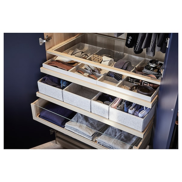 KOMPLEMENT box, set of 6 light grey 75 cm 58 cm