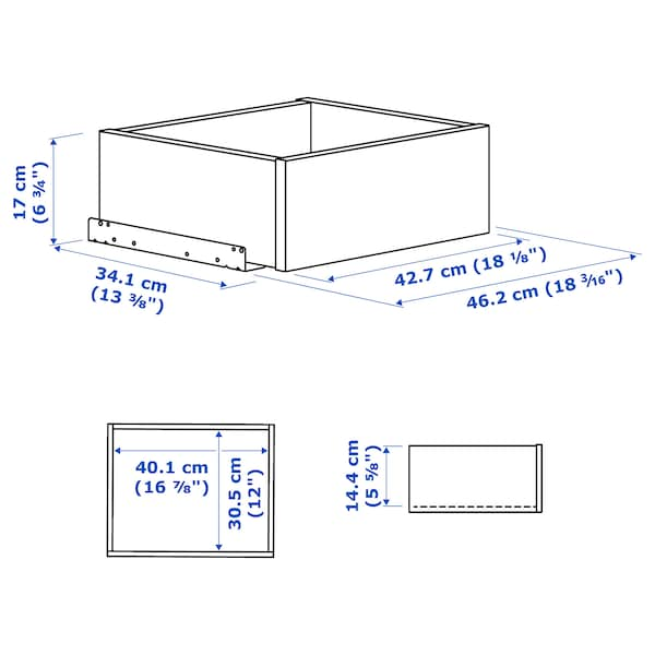 KOMPLEMENT Drawer, white, 50x35 cm