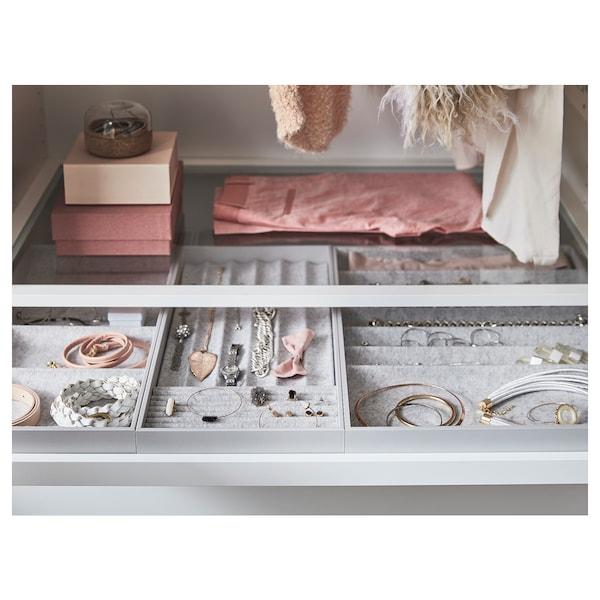 KOMPLEMENT Glass shelf, white, 75x58 cm