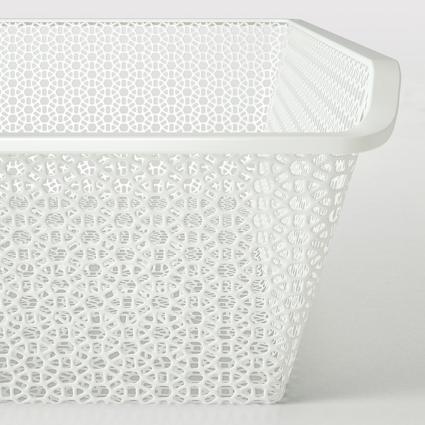 KOMPLEMENT Metal basket with pull-out rail, white, 100x58 cm