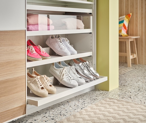 KOMPLEMENT Shoe insert for pull-out tray, light grey, 75x35 cm