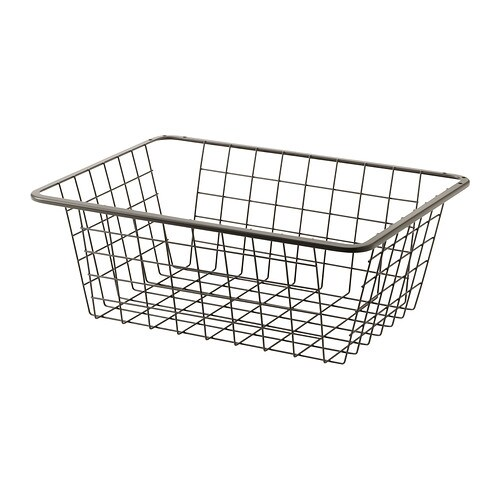 Komplement wire basket with pull out rail 50x35 cm ikea - Accesorios para armarios ikea ...