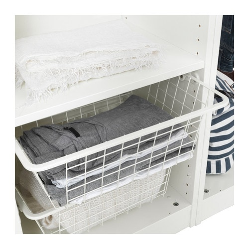 Komplement wire basket with pull out rail 50x35 cm ikea for Armario zapatero pvc