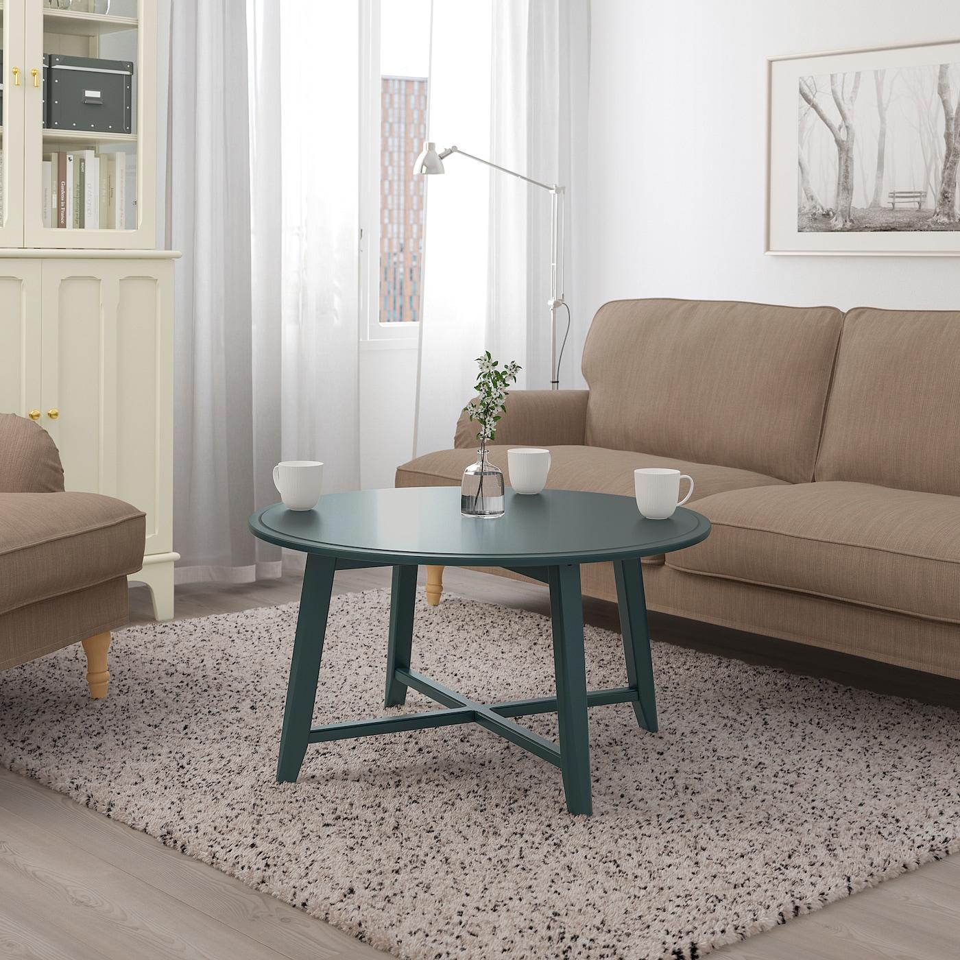 Kragsta Coffee Table Dark Blue Green 90 Cm [ 1400 x 1400 Pixel ]