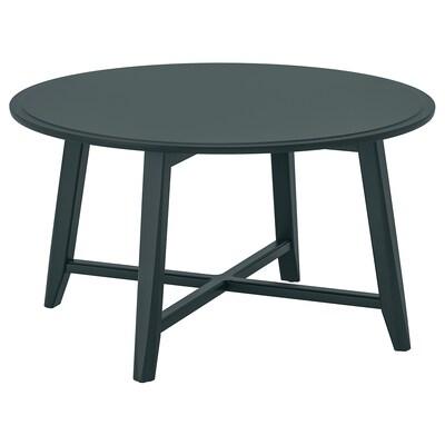 KRAGSTA Coffee table, dark blue-green, 90 cm