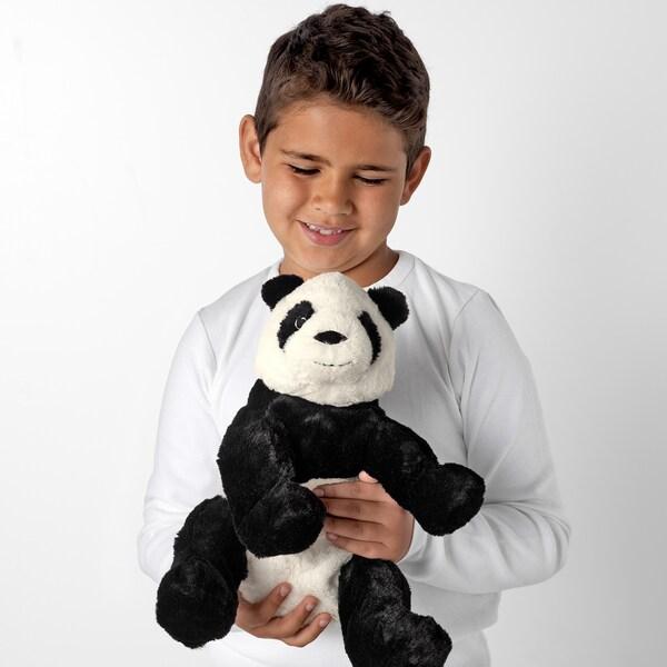 KRAMIG Soft toy, white/black