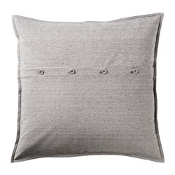 KRISTIANNE cushion cover, white, dark grey striped