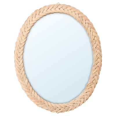 KRISTINELUND Mirror, rattan, 61x50 cm